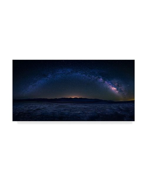 "Trademark Global Michael Zheng 'Bad Water Under The Night Sky' Canvas Art - 32"" x 16"" x 2"""