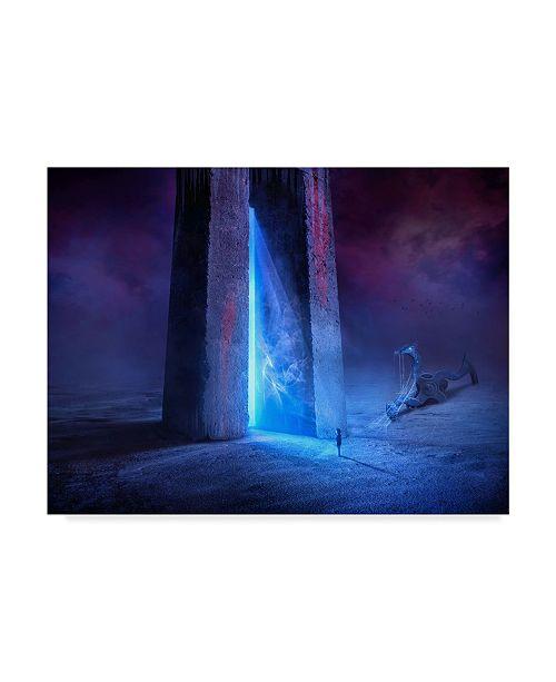 "Trademark Global Sulaiman Almawash 'Time Gate' Canvas Art - 32"" x 24"" x 2"""