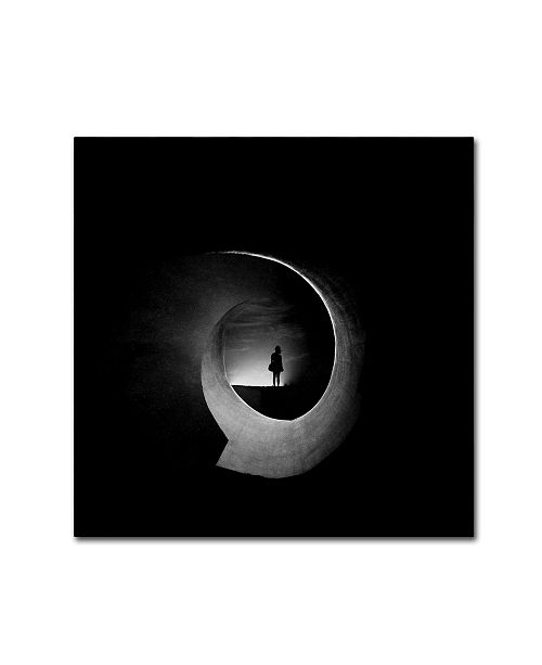 "Trademark Global Radin Badrnia 'In Permanent Void' Canvas Art - 18"" x 18"" x 2"""