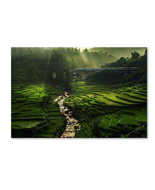 "Trademark Global Ismail Raja Sulbar 'Crossing The Beautiful Bridge' Canvas Art - 47"" x 30"" x 2"""