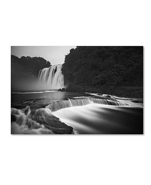 """Trademark Global Yan Zhang 'Huangguoshu Waterfalls' Canvas Art - 19"""" x 12"""" x 2"""""""