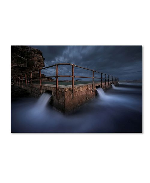 "Trademark Global Jingshu Zhu 'Dark Night' Canvas Art - 24"" x 16"" x 2"""