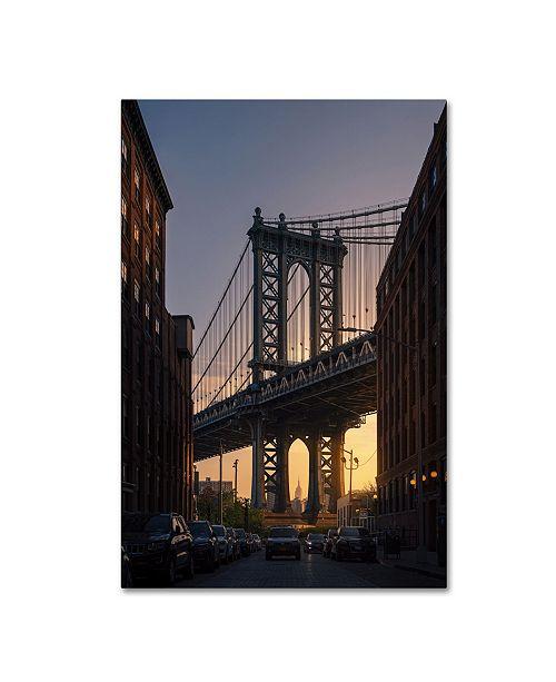 "Trademark Global David Martin Castan 'Bridge' Canvas Art - 47"" x 30"" x 2"""