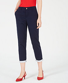 Maison Jules Lou Lou Pin-Dot Pants, Created for Macy's