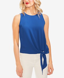 Vince Camuto Soft-Texture Tie-Front Top