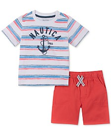 Nautica Baby Boys 2-Pc. Graphic T-Shirt & Shorts Set