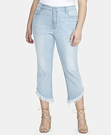 Trendy Plus Size Tummy-Control Kick-Flare Jeans
