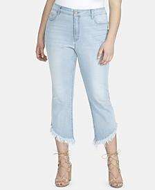 Jessica Simpson Trendy Plus Size Tummy-Control Kick-Flare Jeans