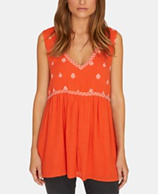 Sanctuary Festival Embroidered Sleeveless Top
