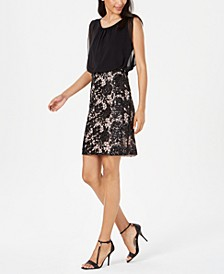 Blouson Lace Sheath Dress