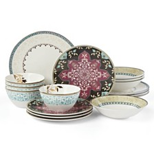 Lenox Global Tapestry Aquamarine 16-PC Dinnerware Set