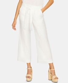 Sanctuary Inland Linen Solid Crop Capri Pants