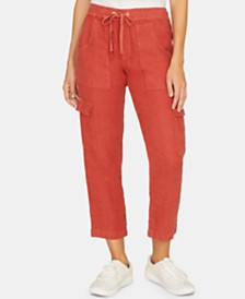 Sanctuary Discover Linen Pull-On Cargo Capri Pants