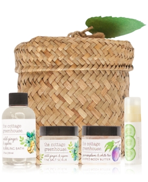 The Cottage Greenhouse 4-Pc. Herbs & Tea Revitalizing Gift & Travel Set