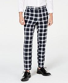 INC Men's Slim-Fit Stretch Tartan Suit Pants, Created for Macy's