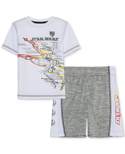 Star Wars Little Boys X-Wing Fighter Attack 2-Pc. T-Shirt & Shorts Set