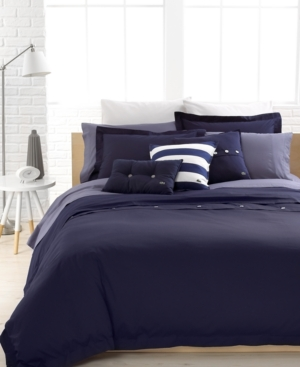 Lacoste Home Solid Brushed Twill Full/Queen Duvet Cover Set Bedding