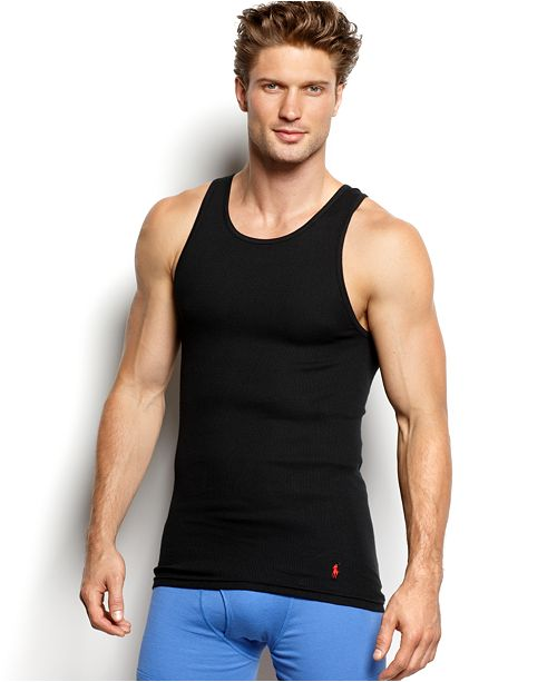 Polo Ralph Lauren Men's Underwear, Classic Cotton Tank 3 Pack
