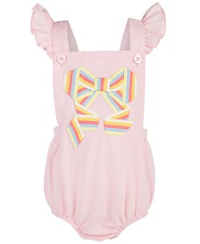 First Impressions Baby Girls Bow-Trim Sunsuit, Created for Macy's