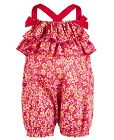 First Impressions Baby Girls Floral-Print Romper, Created for Macy's