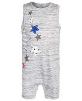 63d787749 First Impressions Baby Boys Star Cotton Romper, Created for Macy's