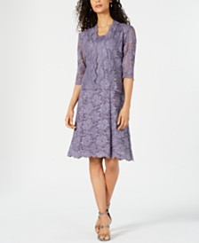 R & M Richards Glitter Lace Dress & Jacket