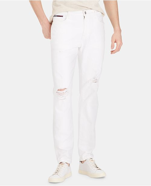 Tommy Hilfiger Men's Slim-Fit TH Flex Stretch Distressed Jeans, Created for Macy's