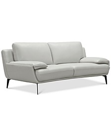 """CLOSEOUT! Surat 85"""" Leather Loveseat, Created for Macy's"""