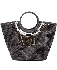 I.N.C. Straw Necklace Tote, Created for Macy's