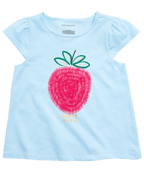 First Impressions Baby Girls Berry-Print T-Shirt, Created for Macy's