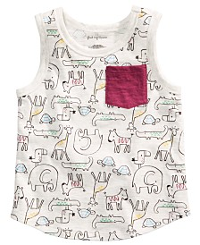 First Impressions Toddler Boys Animal-Print Tank Top, Created for Macy's