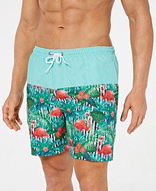 "Trunks Surf & Swim Co. Men's Flamingo Colorblocked 6"" Swim Trunks"