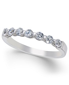 Diamond Seven Stone Band (1/2 ct. t.w.) in 14k White Gold