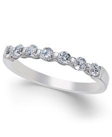Diamond Seven Stone Band (1/2 ct. t.w.) in 14k White Gold