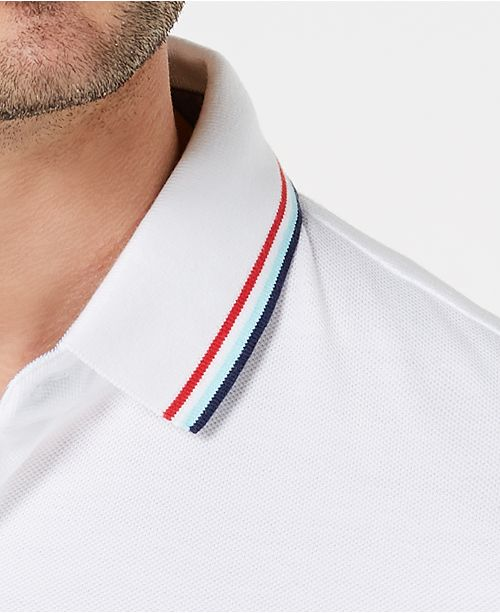 50830670 Tommy Hilfiger Men's Tanner Contrast-Stripe Polo & Reviews - Polos ...