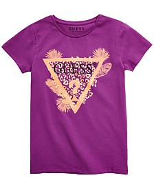 GUESS Big Girls Tropical Triangle Graphic T-Shirt