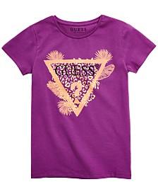 GUESS Big Girls Tropical Triangle Graphic T-Shirt