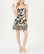 0667ef95 Vince Camuto Square-Neck Fit & Flare Dress