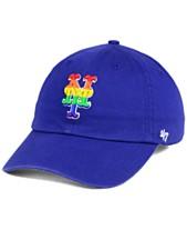 buy popular 87df6 5186f  47 Brand New York Mets Pride CLEAN UP Strapback Cap