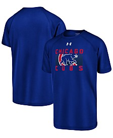 Under Armour Big Boys Chicago Cubs Logo Tech T-Shirt