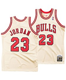 Men's Michael Jordan Chicago Bulls Authentic Gold Jersey