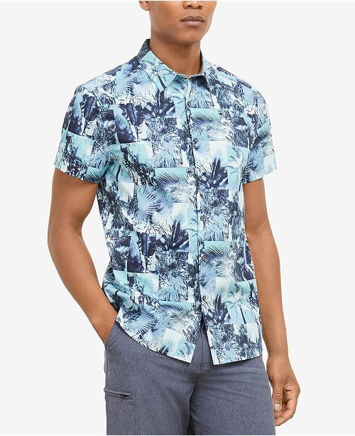 Kenneth Cole Men's Palm Graphic Shirt