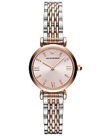Emporio Armani Women's Two-Tone Stainless Steel Bracelet Watch 28mm