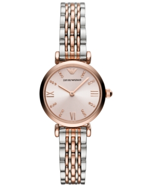 Emporio Armani  WOMEN'S TWO-TONE STAINLESS STEEL BRACELET WATCH 28MM