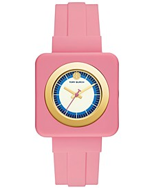 Women's Izzie Pink Rubber Strap Watch 36mm