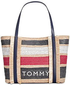 Tommy Hilfiger Piper Straw Tote