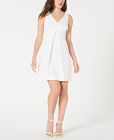 Trina Trina Turk Pleated A-Line Dress