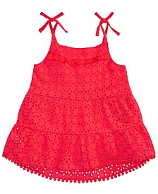 Epic Threads Big Girls Red Bardot Cotton Top, Created for Macy's