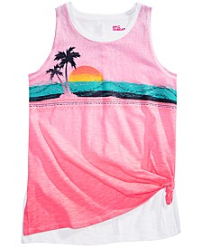 Epic Threads Big Girls Sunset Tie-Front Tank Top, Created for Macy's