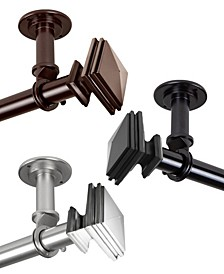 """Bedpost 1"""" Ceiling Curtain Rod/Room Divider 160""""-240"""""""